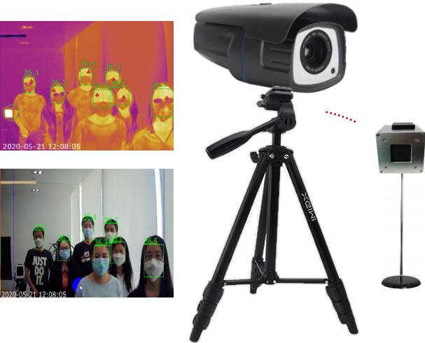 Product picture of AI crowd fever detection and screening solution with accurate human body temperature measurement